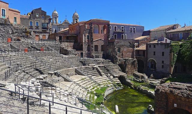Catania római színháza