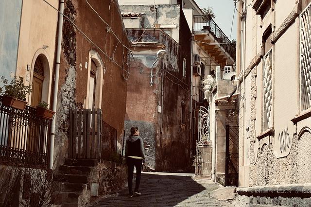 Catania utcáin